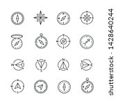 compass related icons  thin... | Shutterstock .eps vector #1428640244
