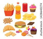 fast foods vector flat...   Shutterstock .eps vector #1428640274