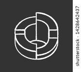 three dimensional diagram chalk ... | Shutterstock .eps vector #1428642437