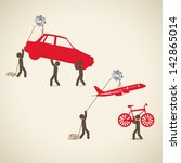 transport design over beige... | Shutterstock .eps vector #142865014
