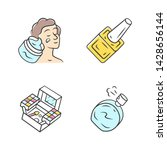 makeup products color icons set.... | Shutterstock .eps vector #1428656144