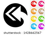 reply arrow all negative space...   Shutterstock .eps vector #1428662567