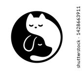 cat and dog yin yang symbol.... | Shutterstock .eps vector #1428663911