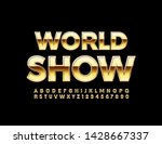 vector elite poster world show... | Shutterstock .eps vector #1428667337