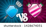 16 9 background with pink and... | Shutterstock .eps vector #1428674051