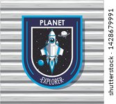 space explorer patch emblem... | Shutterstock .eps vector #1428679991