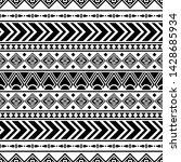 ethnic seamless pattern in... | Shutterstock .eps vector #1428685934