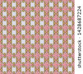 cute seamless pattern in small... | Shutterstock . vector #1428687224