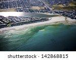 aerial view of milnerton beach... | Shutterstock . vector #142868815