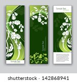 banners with flowers. vector... | Shutterstock .eps vector #142868941