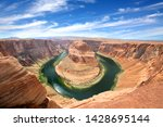 horseshoe bend in arizona   usa | Shutterstock . vector #1428695144