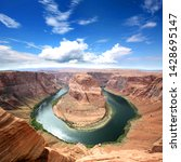 horseshoe bend in arizona   usa | Shutterstock . vector #1428695147