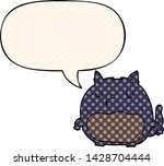 cartoon cat with speech bubble... | Shutterstock .eps vector #1428704444