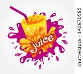 juice drink beverage splash | Shutterstock .eps vector #142870585