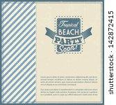 retro elements for summer... | Shutterstock .eps vector #142872415