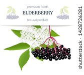 elderberry stripe label with... | Shutterstock .eps vector #1428726281