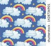 seamless repeat print pattern... | Shutterstock . vector #1428736901