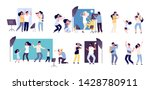 photographers and model.... | Shutterstock .eps vector #1428780911