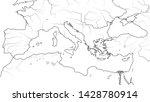 world map of mediterranean sea...   Shutterstock .eps vector #1428780914