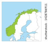map of norway green highlighted ... | Shutterstock .eps vector #1428786911