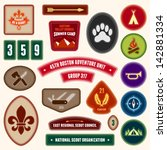 Set Of Scouting Badges And...