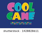 colourful funny font with... | Shutterstock .eps vector #1428828611