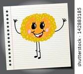 doodle cartoon cute monster | Shutterstock .eps vector #142883185