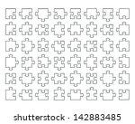 transparent puzzle vector... | Shutterstock .eps vector #142883485
