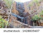 Cascading Waterfall Down Rugged ...