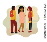children talking to each other. ...   Shutterstock .eps vector #1428861161