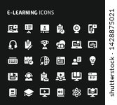 editable vector icons related... | Shutterstock .eps vector #1428875021