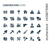 simple bold vector icons... | Shutterstock .eps vector #1428875084