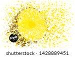 pineapple half with a splash of ...   Shutterstock .eps vector #1428889451