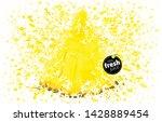 pineapple slice with a splash...   Shutterstock .eps vector #1428889454