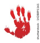 bloody hand print isolated... | Shutterstock .eps vector #1428891161