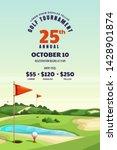 golf tournament  poster ... | Shutterstock .eps vector #1428901874