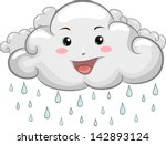 Illustration Of A Happy Cloud...
