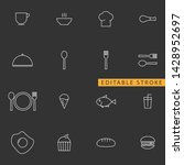 food icon set. editable stroke | Shutterstock .eps vector #1428952697
