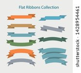 colorful vector ribbons and... | Shutterstock .eps vector #1428954461