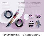 simple abstract geometric font. ... | Shutterstock .eps vector #1428978047