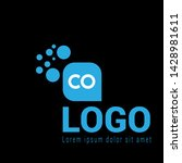 co company linked letter logo...