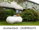 Large Propane Tank In The Yard...