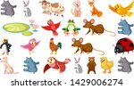 set of different animals... | Shutterstock .eps vector #1429006274