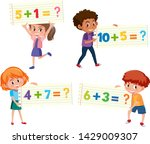 set of math additional card... | Shutterstock .eps vector #1429009307