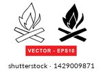black and white vector... | Shutterstock .eps vector #1429009871