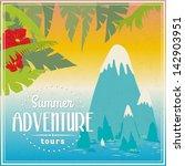 vector vintage travel poster   Shutterstock .eps vector #142903951