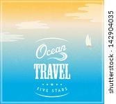vector vintage travel poster | Shutterstock .eps vector #142904035