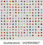 all national flags of the world ... | Shutterstock .eps vector #1429043867