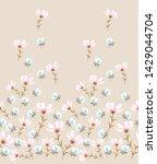 cute floral flower pattern on...   Shutterstock .eps vector #1429044704