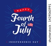 fourth of july  united states... | Shutterstock .eps vector #1429060991